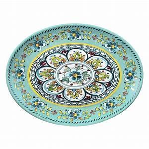 Barbara Stewart Exclusives   Madrid Turquoise Oval Platter $36.00