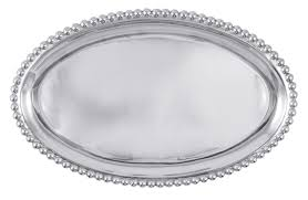 $98.00 PEARLED LG OVAL PLATTER