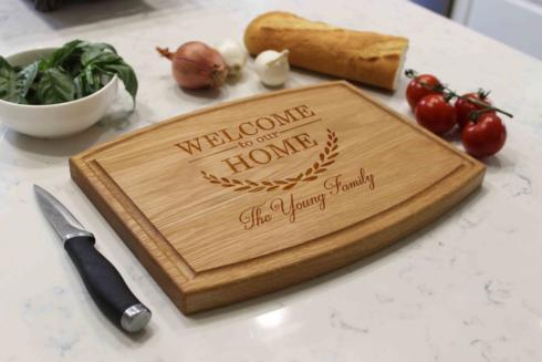 $50.00 ARCHED RECTANGULAR WOOD BOARD/PERSONALIZED