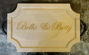 $152.00 WOOD CUTTING BOARD-PERSONALIZED