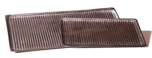 $38.50 LARGE NICKEL RIBBED TRAY
