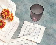 Barbara Stewart Exclusives   COCKTAIL NAPKIN WHITE DOT $3.00