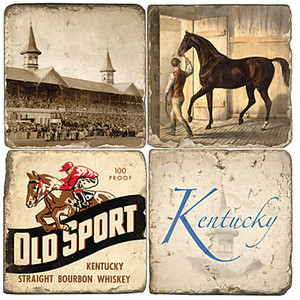 $44.00 KY DERBY COASTER SET/4