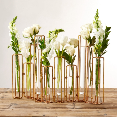 Two's Company   HINGED FLOWER VASES $165.00