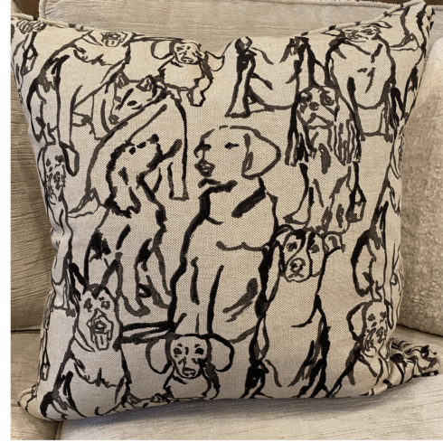 $150.00 DECORATIVE DOG PILLOW