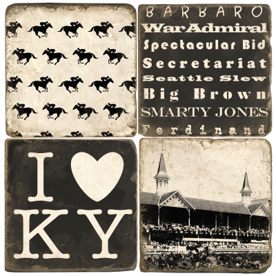 $44.00 DERBY COASTER SET OF 4