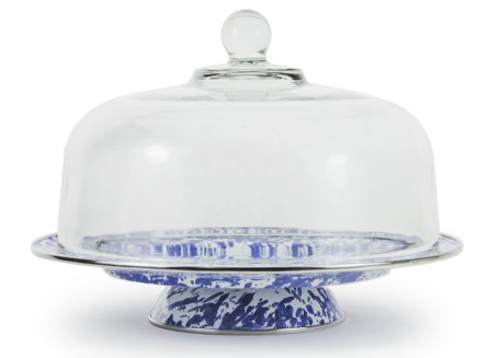 Golden Rabbit   GLASS CAKE STAND COVER $52.50