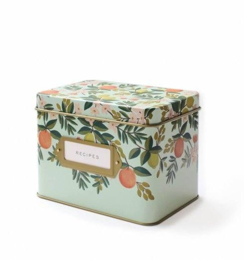 Rifle Paper Co.   FLORAL TIN RECIPE BOX W/CARDS $43.00