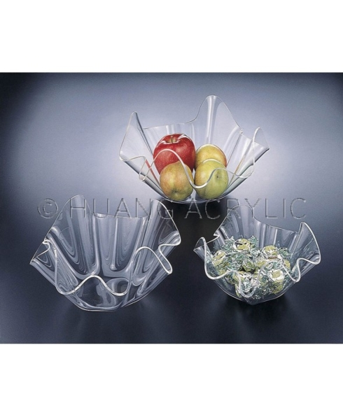 $9.00 ACRYLIC FLUTED BOWL-SMALL