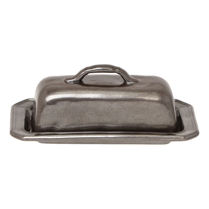 Barbara Stewart Exclusives   PEWTER BUTTER DISH/COVER $68.00