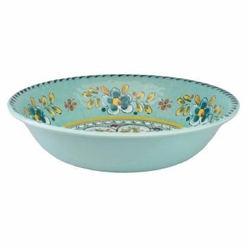 Barbara Stewart Exclusives   Madrid Turquoise Salad Bowl $26.50
