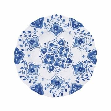 Barbara Stewart Exclusives   MOROCCAN SALAD PLATE MELAMINE-BLUE $15.00