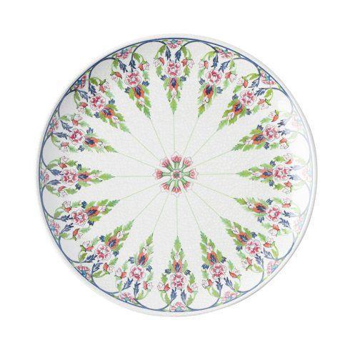 Barbara Stewart Exclusives   LALANA FLORAL DINNER PLATE-MELAMINE $18.00