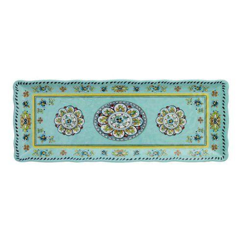 Barbara Stewart Exclusives   Madrid Turquoise Baguette Tray $22.00