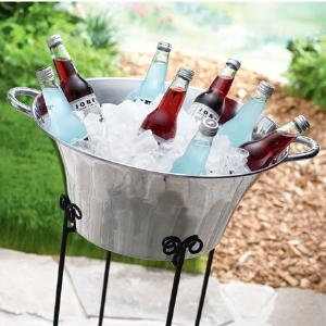 India Handicrafts   ROUND ICE BUCKET $65.00