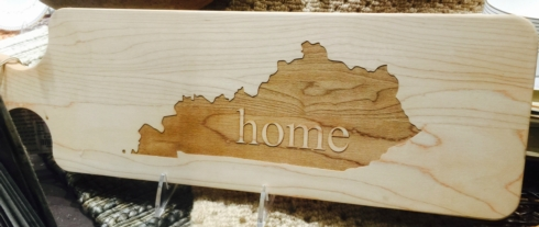 "$57.00 KY ""home"" WOOD BREAD BOARD"