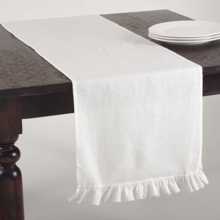 $42.95 RUFFLED RUNNER-IVORY