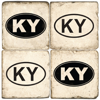 $55.00 KY COASTERS W/ STAND