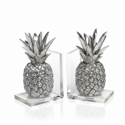 Barbara Stewart Exclusives   PINEAPPLE BOOKENDS $135.00