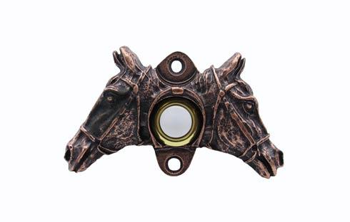 $33.50 Double Horsehead Copper Ox Doorbell