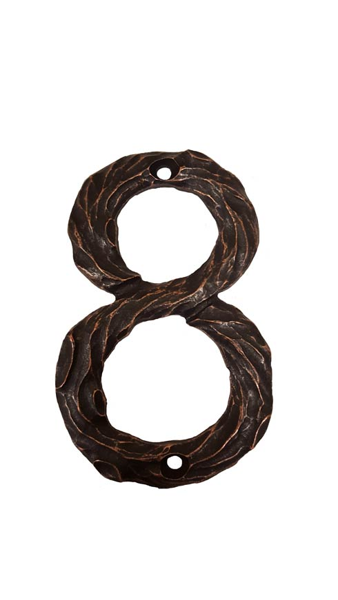 $23.00 Log House Number Eight Oil Rubbed Bronze