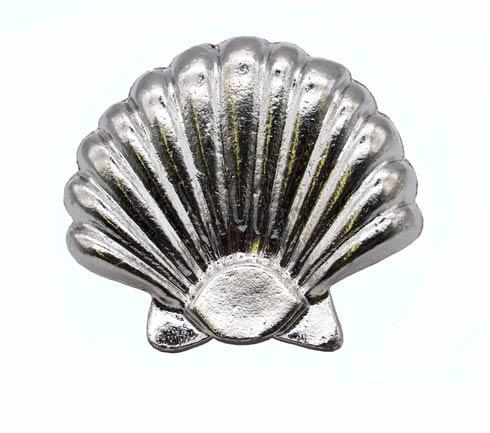 $14.20 Large Seashell Nickel Cabinet Knob