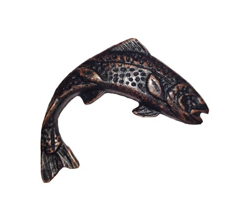 $16.00 Jumping Trout Right Facing Oil Rubbed Bronze Cabinet Knob