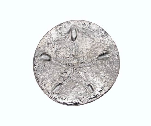 $15.00 Sand Dollar Nickel Cabinet Knob