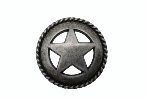 $14.20 Star with Rope Edge Round Pewter Ox Cabinet Knob
