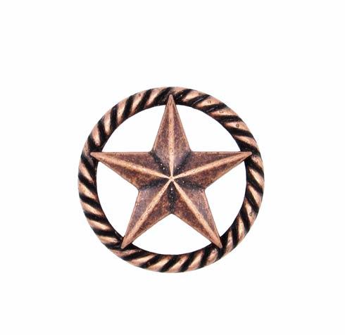 $14.20 3-D Star Round Copper Ox Cabinet Knob