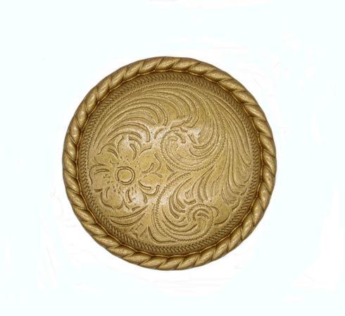 $13.70 Engraved Flower Lux Gold Cabinet Knob