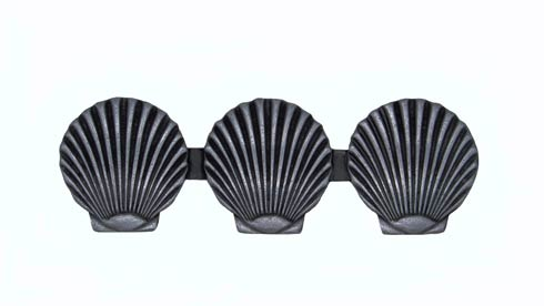 $18.60 Triple Scallop Seashell 3-1/16-in Center to Center Pewer Ox Cabinet Pull