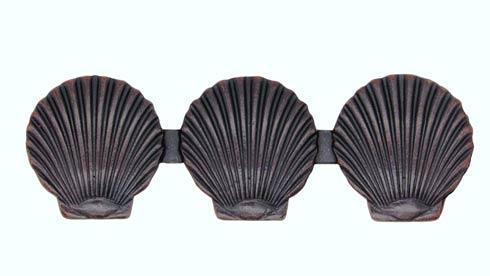 $19.60 Triple Scallop Seashell 3-1/16-in Center to Center Oil Rubbed Bronze Cabinet Pull