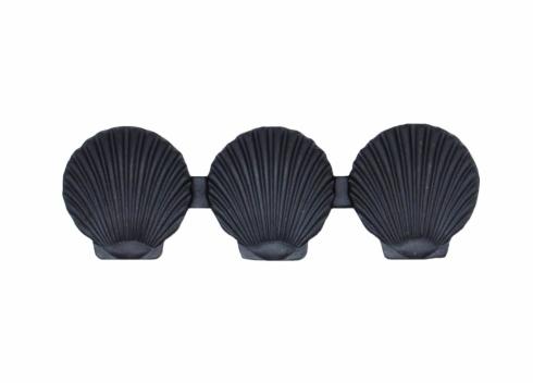 $18.60 Triple Scallop Seashell 3-1/16-in Center to Center Matte Black Cabinet Pull