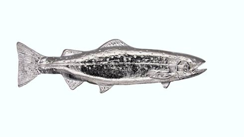 $22.80 Long Trout Right Facing 2-15/16-in Center to Center Nickel Cabinet Pull