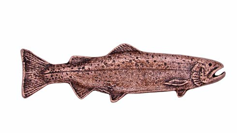 $22.80 Long Trout Right Facing 2-15/16-in Center to Center Copper Ox Cabinet Pull