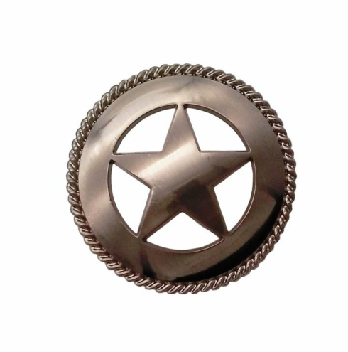 $17.50 Large Star with Rope 2-1/8-in Center to Center Satin Nickel Cabinet Pull