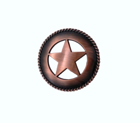 $17.50 Large Star with Rope 2-1/8-in Center to Center Satin Copper Ox Cabinet Pull