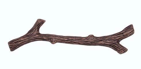 $29.80 Large Twig 6 In. Centers  Copper Ox Cabinet Pull