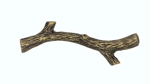 $18.80 Small Twig 2-15/16-in Center to Center Brass Ox Cabinet Pull