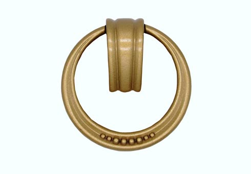 $14.50 Beaded Elegance Lux Gold Ring Cabinet Pull