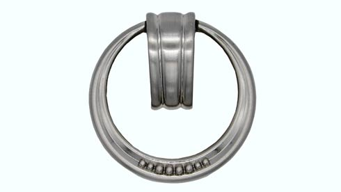 $13.00 Beaded Elegance Satin Nickel Ring Cabinet Pull