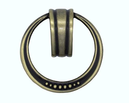 $13.00 Beaded Elegance Satin Brass Ring Cabinet Pull
