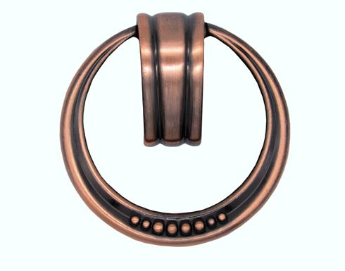 $13.00 Beaded Elegance Satin Copper Ox Ring Cabinet Pull