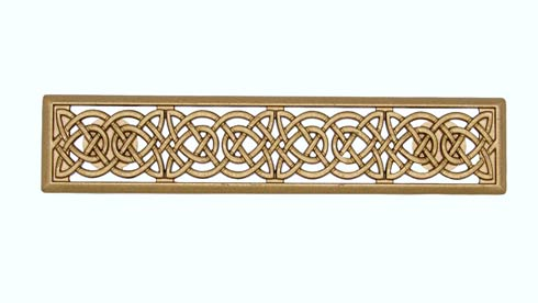 $19.10 Celtic Style 3-in Center to Center Lux Gold Cabinet Pull