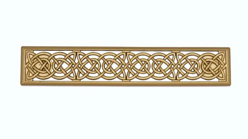 Celtic Style 3-7/8-in Center to Center Lux Gold Cabinet Pull