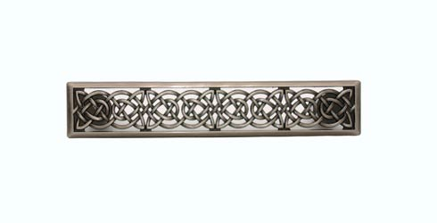 Celtic Style 3-7/8-in Center to Center Satin Nickel Ox Cabinet Pull