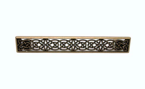 $22.30 Celtic Style 5-1/8-in Center to Center Brass Ox Cabinet Pull