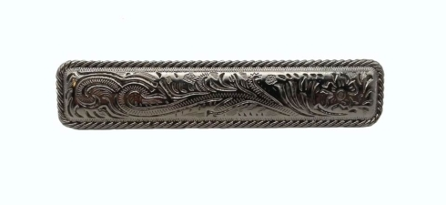 $15.70 Engraved Flower 3-1/16-in Center to Center Nickel Cabinet Pull