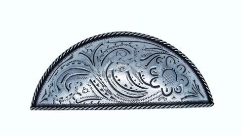 $19.70 Engraved Flower 3-in Center to Center Pewter Ox Cup Cabinet Pull